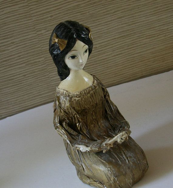 Wonderful vintage 1960s papier mache girl like gemma for Paper mache objects