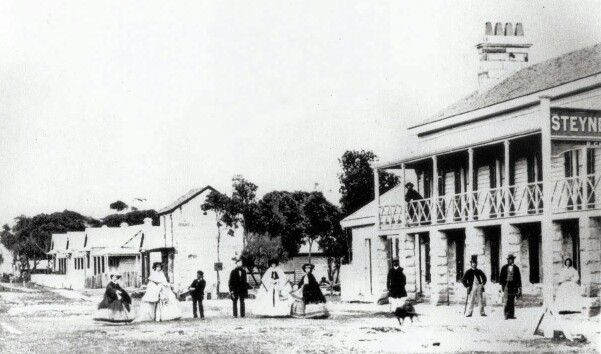 Steyne Hotel on The Corso,Manly in 1861.A♥W