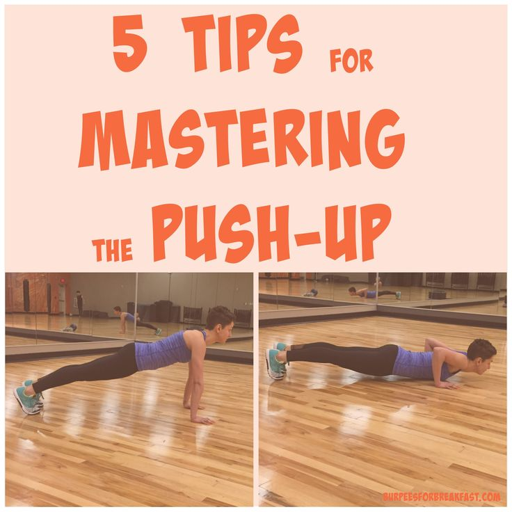 Oh, the push-up. Not going to lie, it took me a while to be confident doing a push-up on my toes, with proper form. It's not easy. When I was teaching bootcamp, the most common exercise I found mys...
