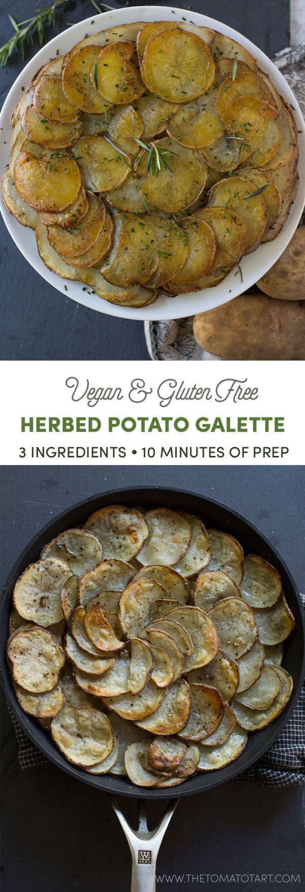 Gluten Free and Vegan Potato Galette Recipe via @thetomatotart