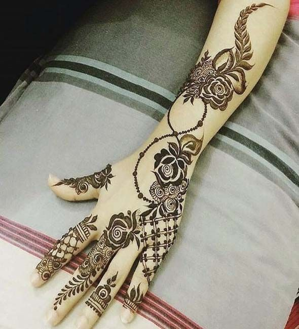 Amazing Modern Arabic Roses Henna Floral Henna Designs Mehndi Designs Mehndi Designs For Hands
