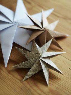 Рукодельница: Новогодний декор. Бумажные звезды