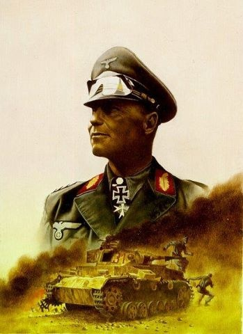 Field Marshall Erwin Rommel, Afrika Korps Commander; the Desert Fox.