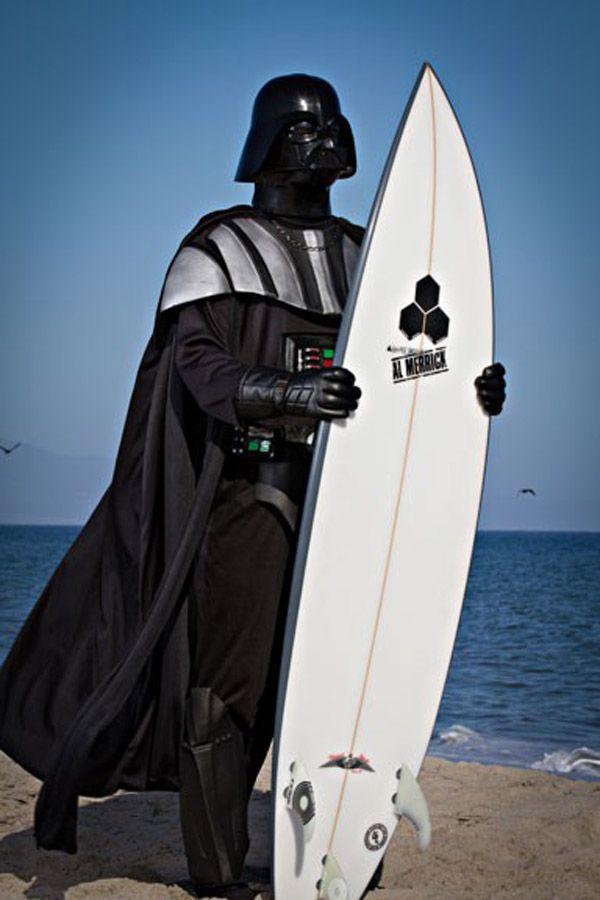 .. Darth Vader surfs ..: Darth Vader, Summer Vacations, Darth Vader, Need A Vacations, Surfing Boards, Surfing Up, Stars War, Dark Side, Starwars