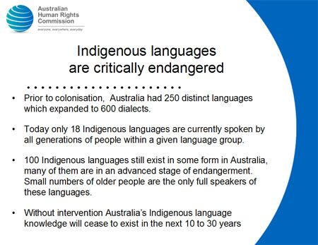 Some facts highlighting the dwindling state of Aboriginal culture and signifying the need to preserve indigenous traditions.