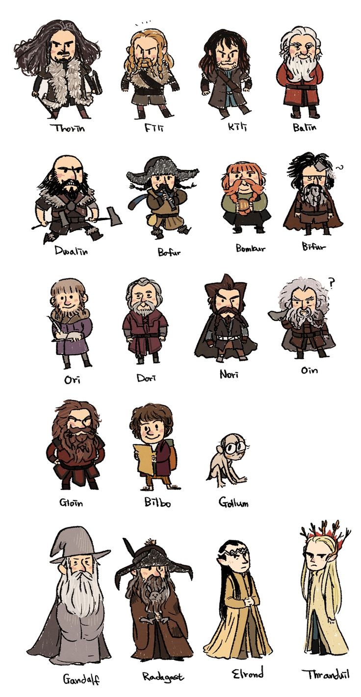 ♥ {dwarves! and Bilbo , Gandalf, Radagast, Elrond, Thranduil.}