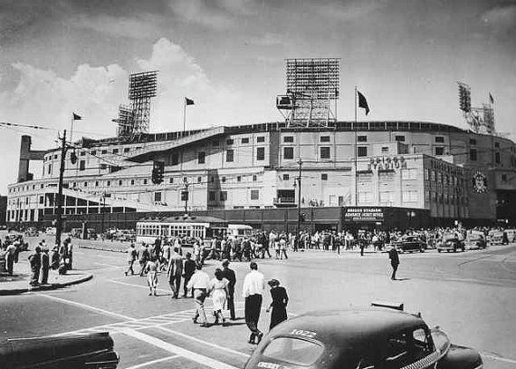 Old Detroit Photography Tiger Stadium Briggs Stadium 1940s ...