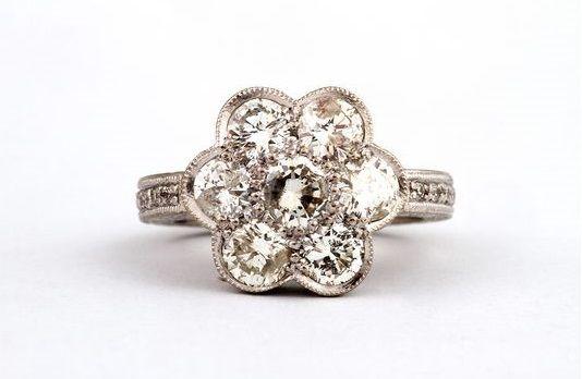 GALACIA DESIGNER JEWELLERY- Old-mine cut diamond ring.
