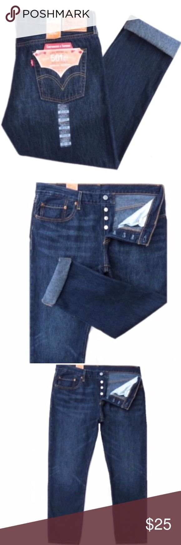 """NWT Levi's 501 CT Women's Button Fly Jeans Brand new with tags Levi's 501 CT women's button fly jeans. Dark blue wash. Button fly. Cotton. Size 31 by 32. They have a 10"""" rise and 29"""" inseam. Very nice! Levi's Jeans"""