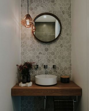 Sprucing Up the Overlooked Powder Room ~ Plumbtile Blog