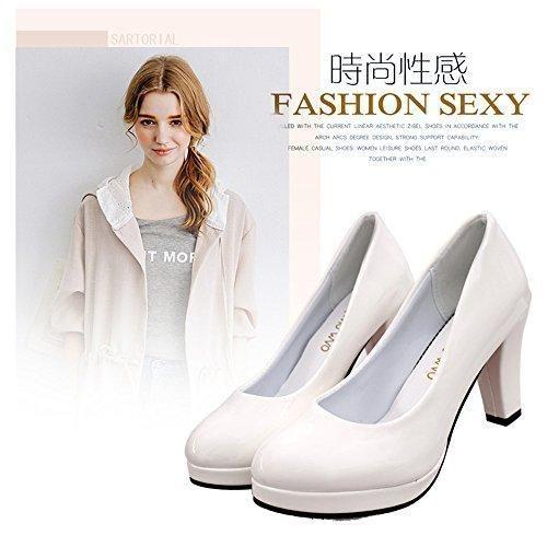 Oferta: 36.54€. Comprar Ofertas de TMKOO 2017 zapatos de primavera y verano de boca redonda poco profunda solos zapatos impermeables de las mujeres gruesas con barato. ¡Mira las ofertas!