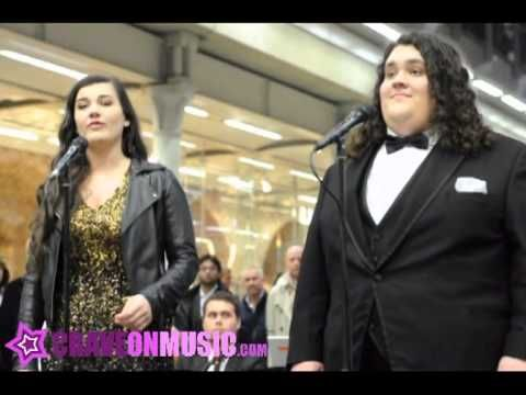 Jonathan and Charlotte perform 'O Holy Night' live   Britain's Got Talent and gold-selling 'Together' singing sensations, Jonathan Antoine and Charlotte Jaconelli, perform Christmas carol 'O Holy Night'. Recorded live at St Pancras International train station in London during their light switch on ceremony 2012 and Classical Station Sessions.