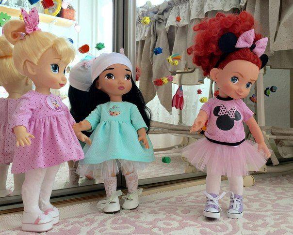 Обувь и одежда для кукол Дисней аниматор.