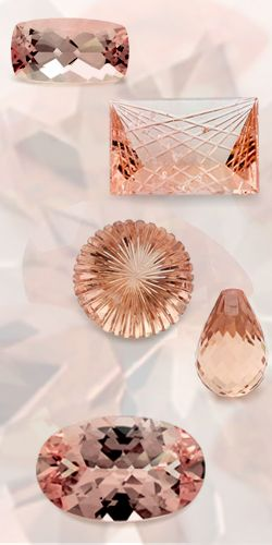 Morganite, Natural Pink Gemstones - The first findings of Morganite occurred in Madagascar and California, near San Diego, and its name was actually based after JP Morgan, an avid collector of minerals.