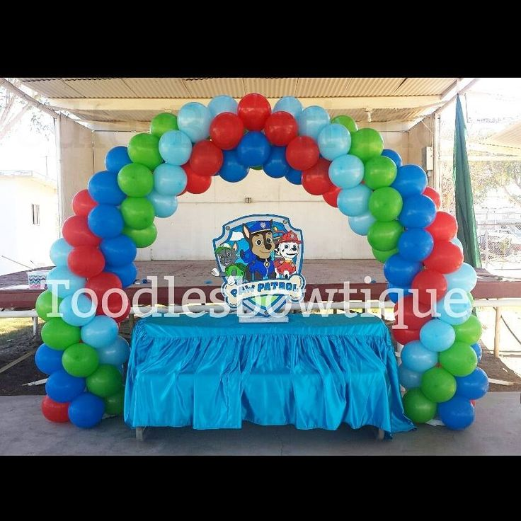 Paw patrol balloon arch balloons without helium