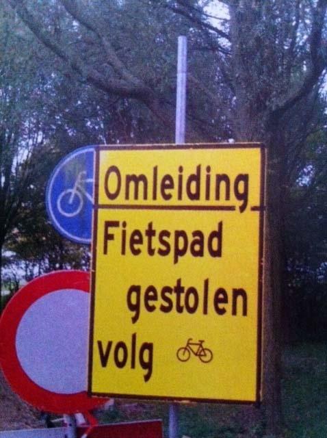 Na putdeksels zijn nu ook fietspaden zeer gewild...