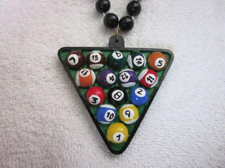 "ONE (1) RACKED ""POOL BALLS"" MARDI GRAS NECKLACE BEAD BILLIARDS GAME SPORT (B313)   Collectibles, Holiday & Seasonal, Mardi Gras   eBay!"