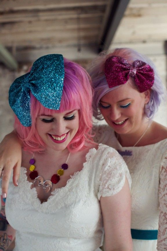 Get Your Glitter On: Rock n Roll Bride for Crown and Glory Headpiece Collection! · Rock n Roll Bride