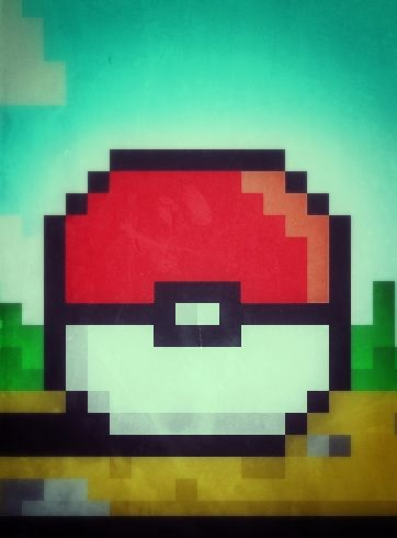 Pokeball retro ( also my ipod wallpaper )
