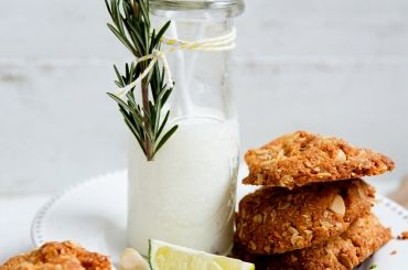 Macadamia and Lime Anzac Biscuit Recipe
