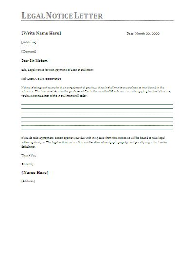 Legal Letters | Sample Letters | Letter Templates - sample legal letters