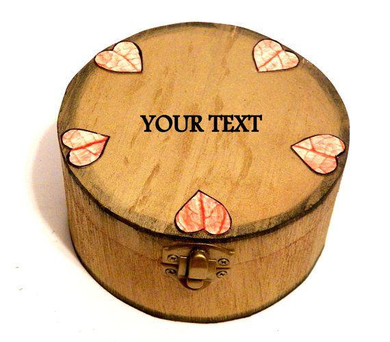Wooden Keepsake Box Wedding Jewelry Box por Personalizedbox en Etsy