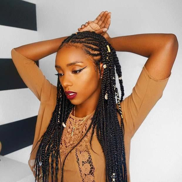 Really adore this hairstyle #blackhairstylesbraids…