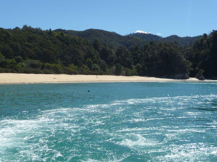 The beach close to Lia's house in Tasman