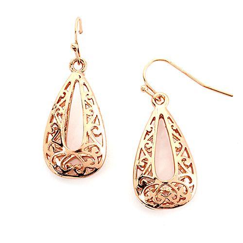 Design Collection Rose Gold Filigree Earrings | Boscov's