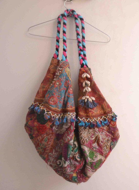 Indiase vintage fringe tas Ibiza style kwast ontwerpers