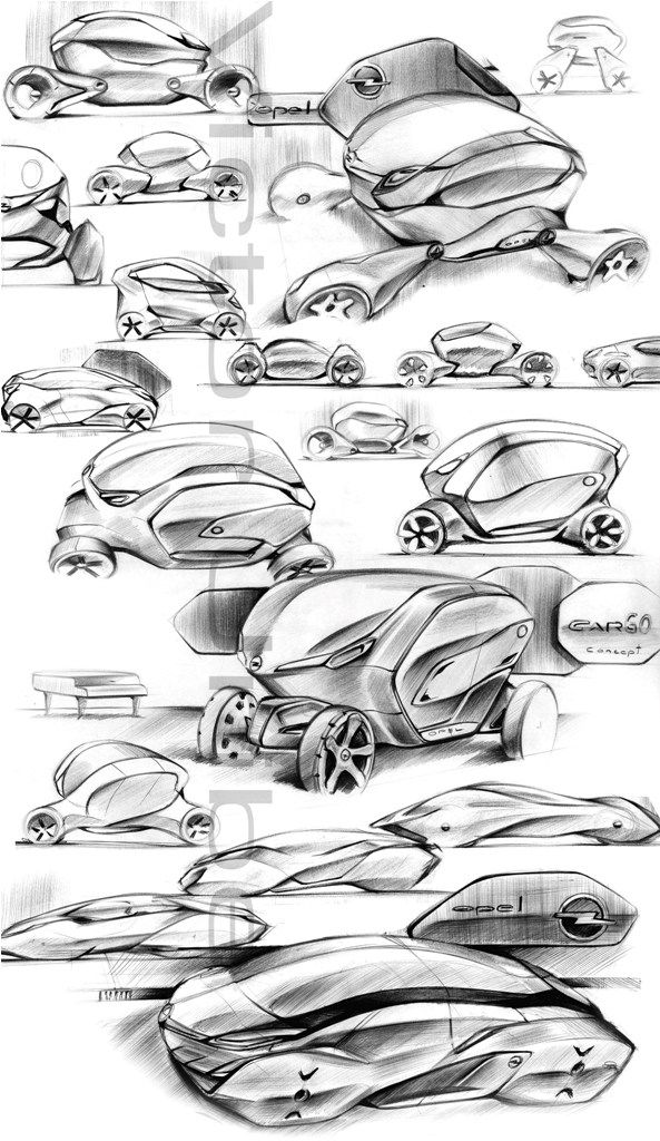 Car design and my life...: opel SKETCHBOARD
