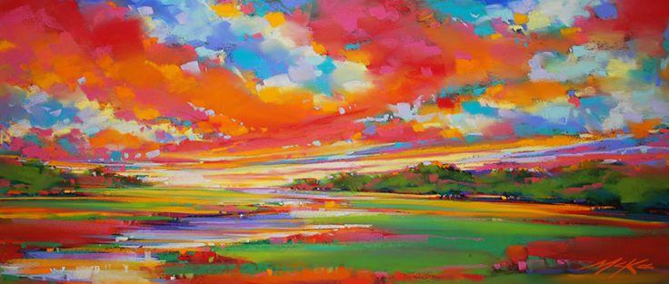 Meandering Lowlands, pastel by Michael Mckee