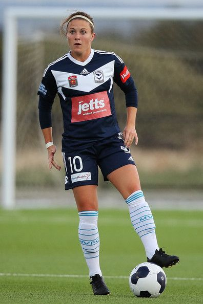 Christine Nairn Christine Nairn of Melbourne Victory wins the ball during the round 12 W-League match between Adelaide and Melbourne at Adelaide Shores Football Club on October 29, 2014 in Adelaide, Australia.