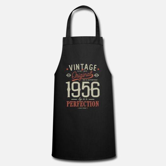 Age De La Perfection 1956 Cadeau Anniversaire Tee Tablier De Cuisine En 2020 Cadeau Anniversaire Tablier Tablier Cuisine