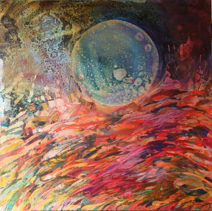Luna IV, 100x100cm, oil on canvas, 2011, Barbara Hacura
