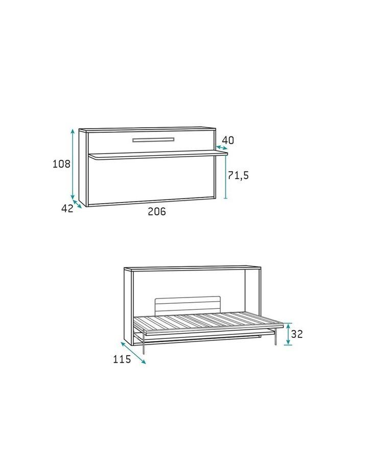 Achat Armoire lit escamotable horizontale avec bureau TEO sur Square Décoration, livraison ou retrait en magasin.