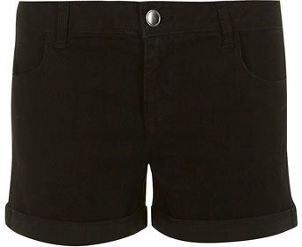Black Denim Shorts by Dorothy Perkins. Buy for $19 from Dorothy Perkins