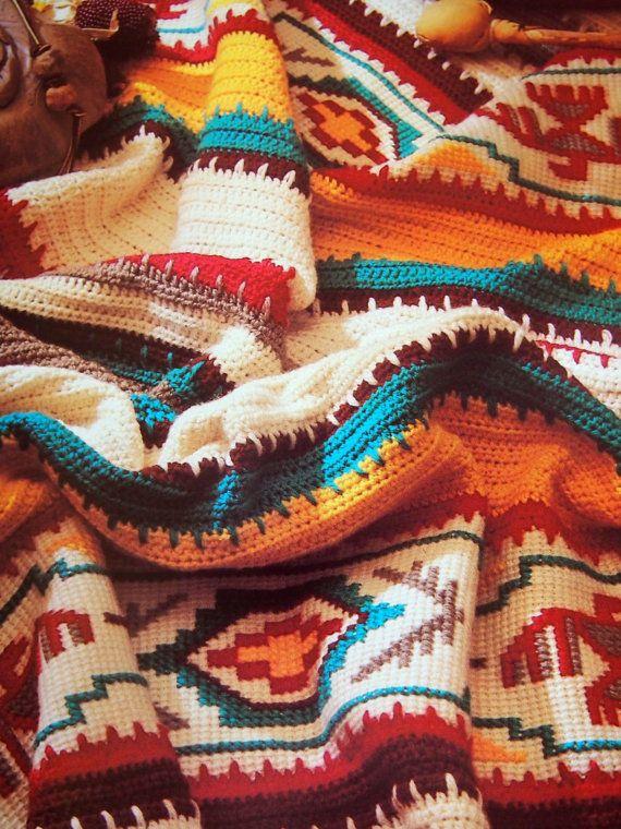 Crocheted Afghans Vintage Hardback Crochet Book 1988