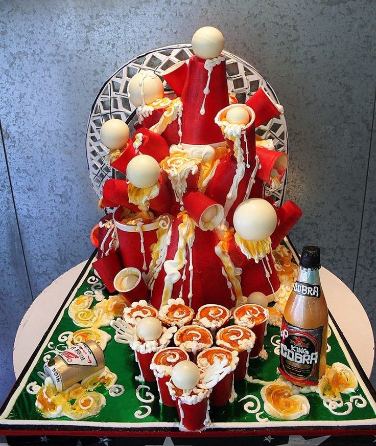 beer pong cake wow!