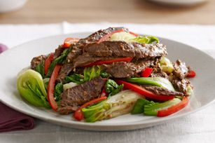 Asian Beef with Ba by Bok ChoyAsian Take Out, Asian Cuisine, Asianbeef, Baby Bok Choi Recipe, Yummy Recipe, Baby Bok Choy Recipe, Asian Beef, Healthy Recipe, Healthy Food