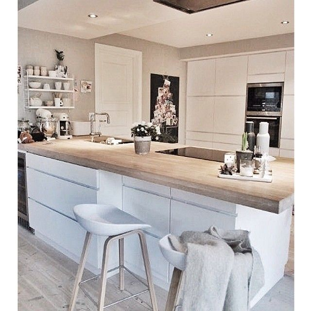 white + wood kitchen..