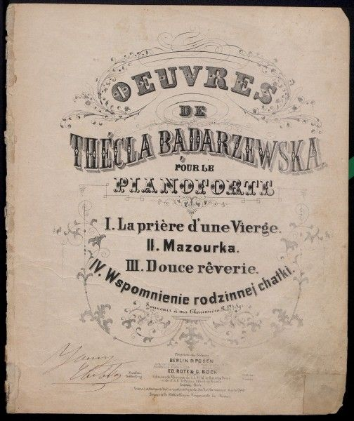 Okładka zapisów nutowych; Berlin 1851-53