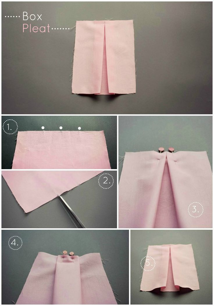 How To Sew A Knife Pleat & A Box Pleat