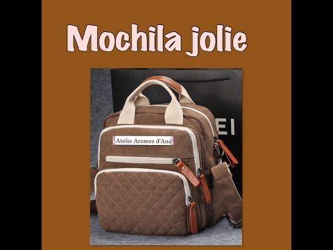 Mochila Jolie,como fazer uma mochila - YouTube