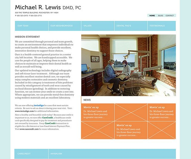 Dental Office Website Design Amusing Inspiration