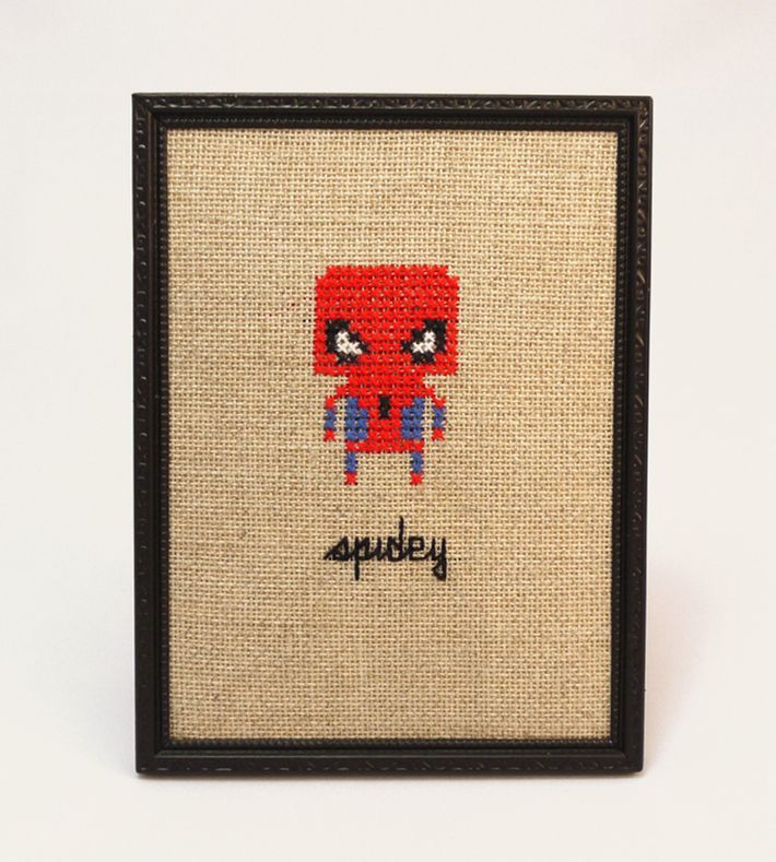 'Spidey' - Geeky fan art gone retro ♥ You can buy this piece at our webshop www.artrebelscom #artrebels #art #craft #spiderman