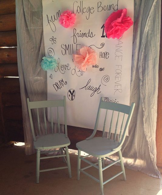 The Style Sisters: Photo Backdrop For 18th Birthday Party