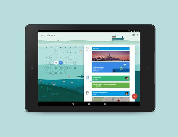 Google Calendar on Behance