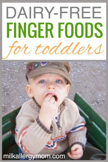 This is such a common question from our new milk allergy moms. What finger foods are dairy-free and safe for my milk allergy toddler. Our readers chime in and share their best tips. Feel free to add your own as well at this post!