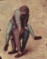 Spelen in de middeleeuwen. Haasje over